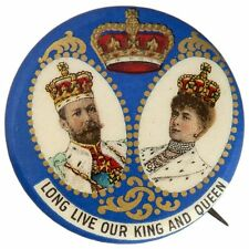"""1911 CORONATION KING GEORGE V – QUEEN MARY """"LONG LIVE OUR KING AND QUEEN"""" SUPERB"""