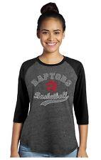 NBA Toronto Raptors Womens Demar Derozan Triblend 3/4 Raglan T-Shirt LARGE