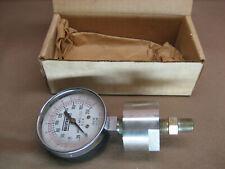 Vtg Binks 84 246 Pressure Gauge Stainless Steel Diaphragm 0 200 Psi Steampunk