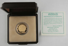 Mexico 1985 1/4 Troy Oz GEM Proof  250 Peso Gold Coin 1986 World Cup +BOX & COA
