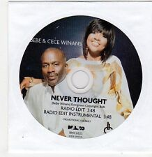 (FF806) Bebe & Cece Winans, Never Thought - 2009 DJ CD