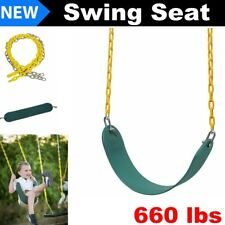 Heavy Duty Swing Seat Set Accessories Replacement Adult Child Kids Outdoor Green
