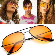 Black Orange Lens Outdoor Sport Driving Pilot Teardrop AVIATOR Sunglasses