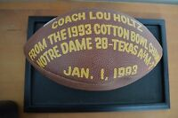 1993 Cotton Bowl- Last Game Used Football- Notre Dame- Signed by Lou Holtz