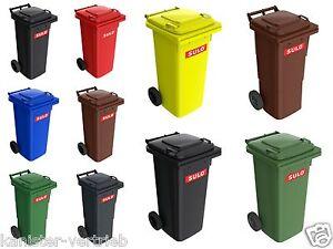 Abfallbehälter Mülltonne 60,80,120 L NEU & UNBENUTZT DIN Norm für Straßenleerung