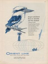 1957 Orient Lines Cruise Ship Australia New Zealand to Hawaii Fiji PRINT AD