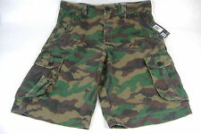 New Mens 32 Hurley One And Only Cargo Camo Green Long Land Shorts Last Unit$50