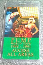 1989-1991 AEROSMITH LAMINATED BACKSTAGE PASS AAA GREEN