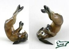 Porzellan Figur dunkelbraun Purzel-Hase Ens H 13,5cm #9941014