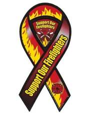 SUPPORT OUR FIREFIGHTERS Car Ribbon 2 in 1 Magnet Magnetic Fire Department