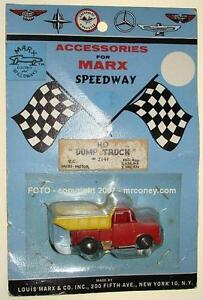 MARX HO SCALE MOC SLOT CAR DUMP TRUCK CARDED RESEARCH & DEVELOPMENT SAMPLE