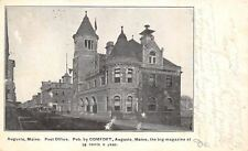 Augusta Maine~Romanesque Revival Post Office~ B&W 1906 UDB~Rebuck Doane 2