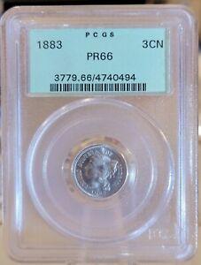 1883 3CN Proof Three Cent Nickel PCGS PR 66
