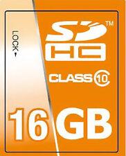 16GB 16 GB SDHC Class 10 Speicherkarte für Panasonic LUMIX DMC-FS35 / DMC-FH25