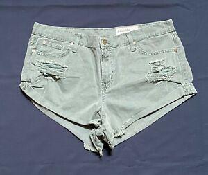 Pistola Distressed Cuffed Denim Shorts