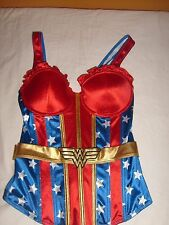 DC WONDER WOMAN PUSHUP UNDERWIRE CORSET COSPLAY COSTUME TANK TOP SPENCE'S PRTO