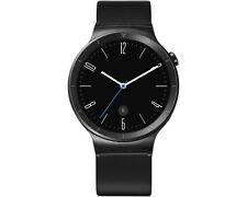 Huawei Watch Active (edelstahl) mit Lederband Smartwatch schwarz