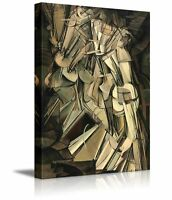 """Nude Descending a Staircase No. 2 by Marcel Duchamp - Canvas Print - 12"""" x 18"""""""