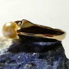 GRAN ANILLO 54 (17,2 mm Ø ) 333 / 8k Goldring con perla