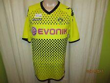 """Borussia Dortmund KAPPA ORIGINALE maestro MAGLIA 2011/12 """"Evonik"""" Taglia L Top"""