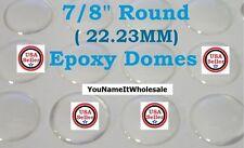 "50) 7/8"" Crystal Clear Epoxy Domes Create Pendants Earrings Bracelet Epoxy Dome"