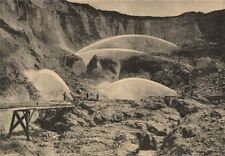 Hydraulic mining in North Bloomfield, Nevada (now California)  1885 old print
