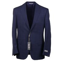 NWT $2195 CANALI Reguar-Fit Medium Navy Blue Check Wool Suit 38 R (Eu 48)