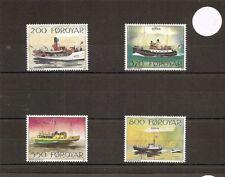 Faroe Islands 1991 SG220-223 4v NHM Mail Ships-Ruth/Ritan/Masin/Sigmundur