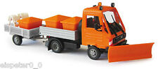 Busch 42217 MULTICAR WITH TRAILER Winter Road Maintenance, H0 Model World 1:87