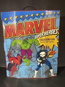 Toybiz Marvel Super Heroes Collectors Case Holds 12 Figures Vintage 1991 EUC!