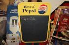 "Vintage 1961 Pepsi Cola Soda Pop Restaurant Menu Board 30"" Metal Sign"