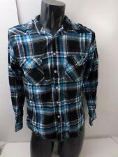MAMBO Men's Shirt Check 100% Cotton  Size M