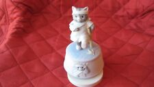 Schmid Kitty on Crutches Vintage Hand Painted Music Box