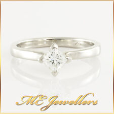 Platinum Square Princess Cut GIA Certified Diamond 0.40ct E/VVS2 Engagement Ring