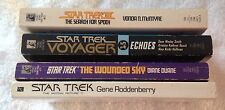 STAR TREK FICTION BOOKS X 4 IN USED CONDITION
