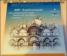 Offizieller KMS Italien 2017 - Markusdom Venedig - BU, Plus die 2€ Sondermünze