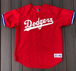 Vintage Majestic MLB Los Angeles Dodgers Red Jersey Sz. XL