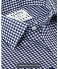 Neues AngebotNon-Iron Navy Gingham Slim Fit Shirt