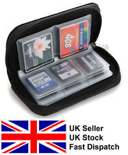 Black memory card case holder wallet SD SDHC CF Micro SD travel case protection