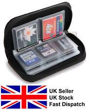 Black memory card case holder wallet SD SDHC CF Micro SD travel case protection