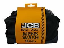 JCB MENS WASH BAG LARGE TOILETRY TRAVEL SHAVE HOLIDAY GYM DURABLE RIPSTOP OUTER