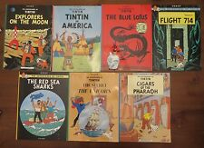 Lot 7 Herge Adventures of Tintin Sea Sharks Flight Blue Lotus Unicorn Pharaoh