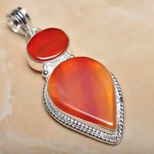 "Handmade Botswana Agate Onyx Jasper 925 Sterling Silver Pendant 2.5"" #P12826"