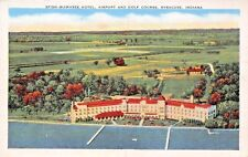 SYRACUSE INDIANA  SPINK WAWASEE HOTEL AIRPORT & GOLF COURSE POSTCARD c1930s