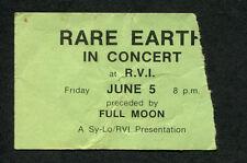 1970 Rare Earth Concert Ticket Stub Get Ready