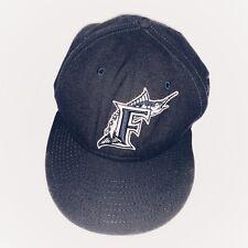 Florida Marlins New Era 59Fifty MLB Size Small 7 1/8 Navy Blue Hat Cap Miami