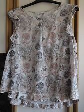 #G03 - Floral Print Sleeveless Top From Next - Size 22 - BNWOT