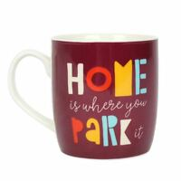 'Home Is Where You Park It' Boxed Ceramic Mug - Perfect Gift For Motorhome or Ca