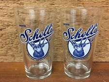 Set Of 2 - Schells Beer Glasses Pint / 16 Oz - White Background - New Ulm MN