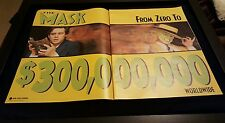 The Mask Jim Carrey  $300 Million Box Office Promo Poster Ad Framed!